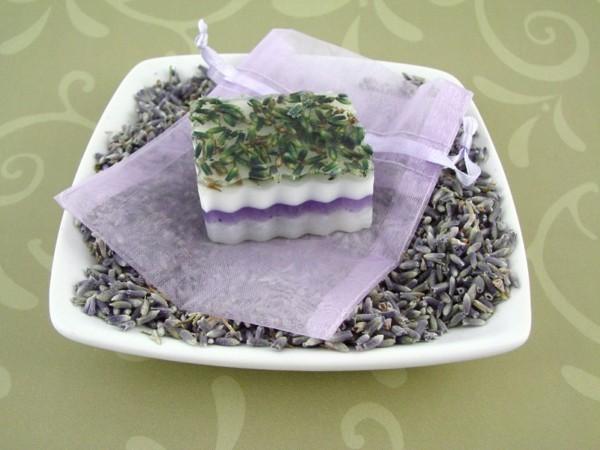 lavendelblüten getrocknet seife selber machen rezept
