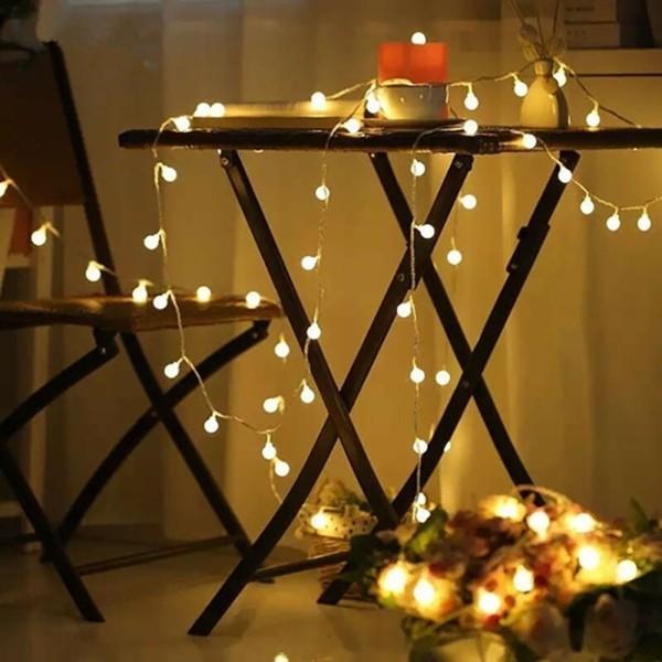 led lichterketten tischdeko romantische dekoideen