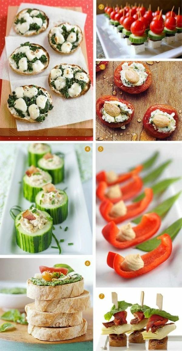 leichte party fingerood rezepte gemüse käse