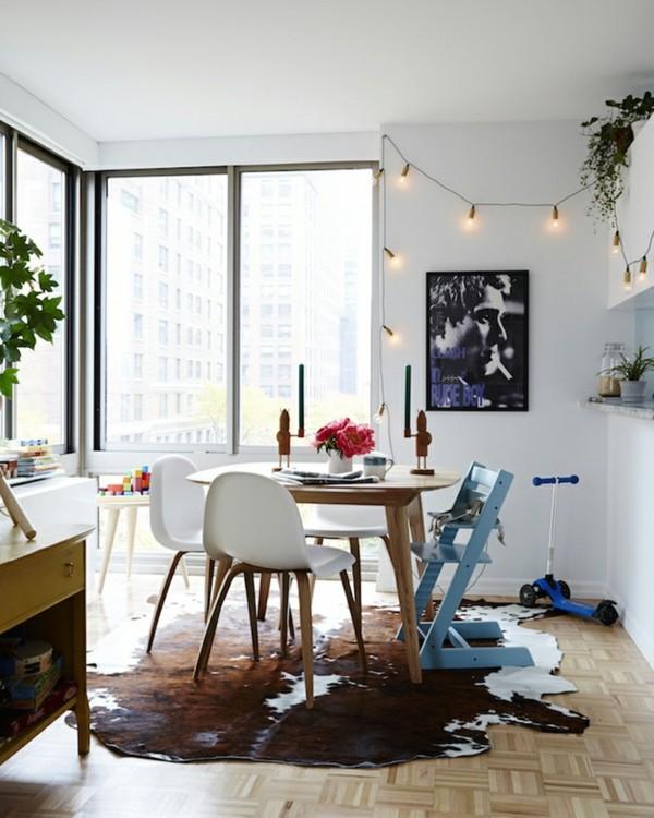 lichterkette wanddeko dekoideen wohnzimmer