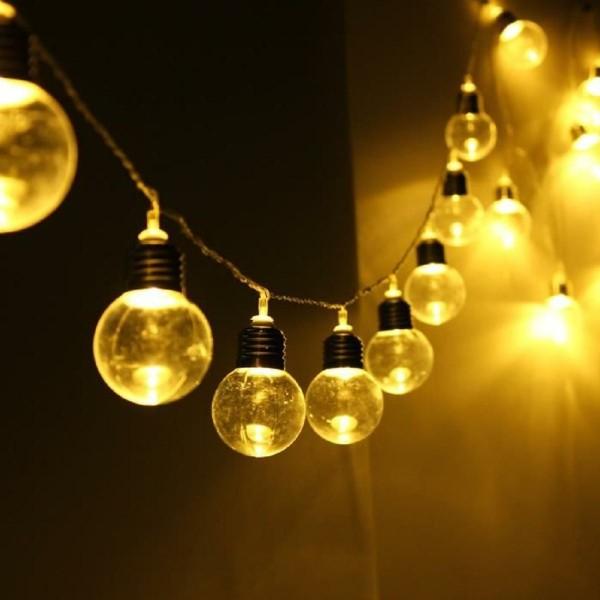 lichterketten dekoideen glühbirne wohnung dekorieren