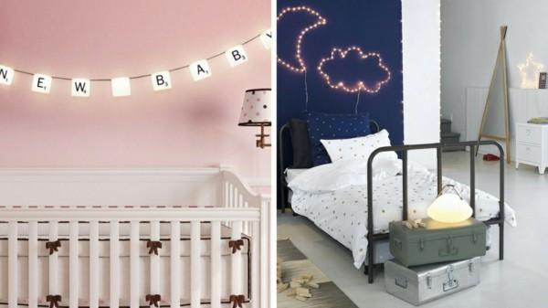 lichterketten dekoideen kinderzimmer schlafzimmer