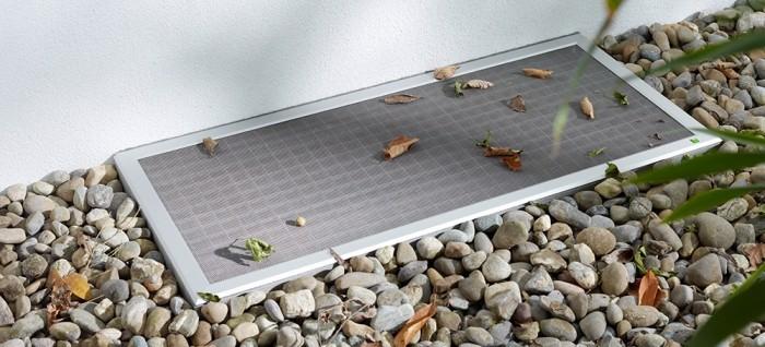 lichtschachtabdeckung funktionaler schutz gegen schmutz insekten