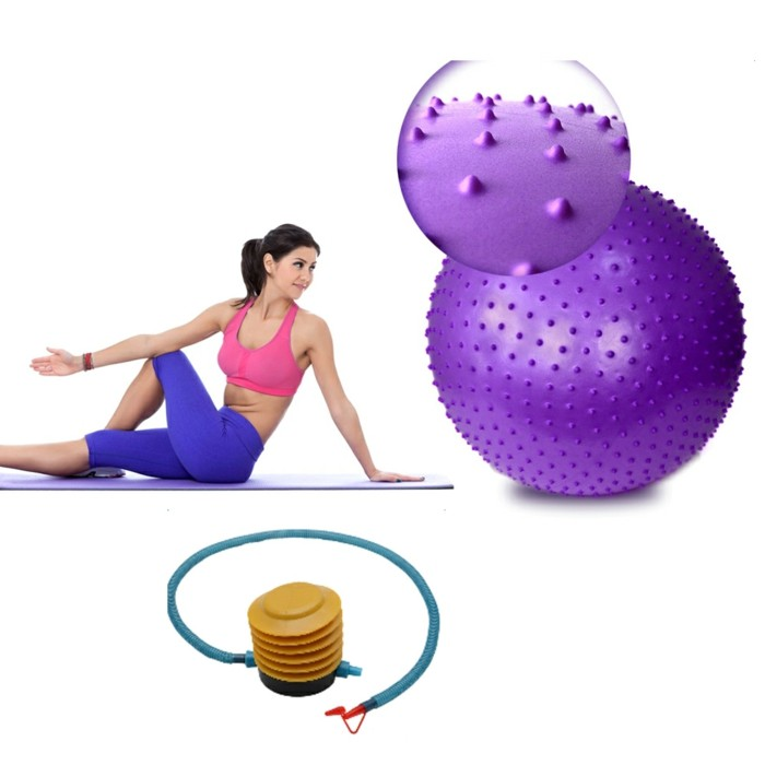 lila gymnastikball sitzball massage übungen pilates yoga