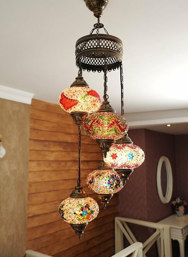 marokkanische lampe ausgefallene hängelampe farbig