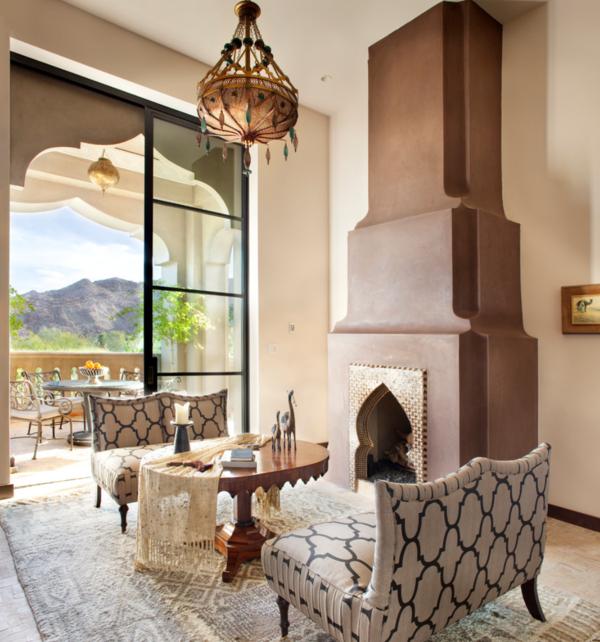 marokkanische lampe hängelampe wohnzimmer schöne feuerstelle frische muster