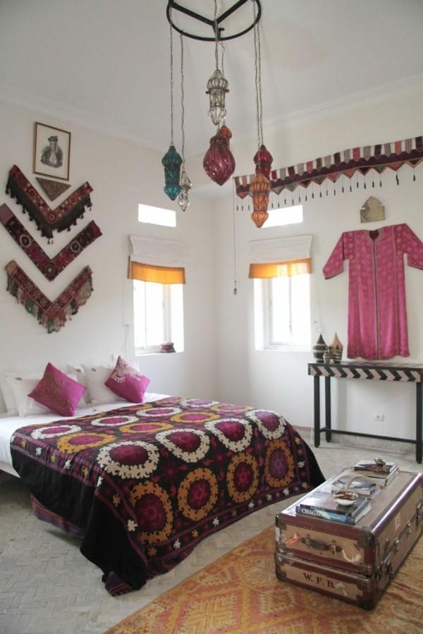 marokkanische lampe im schlafzimmer marokkanische muster gemütlich
