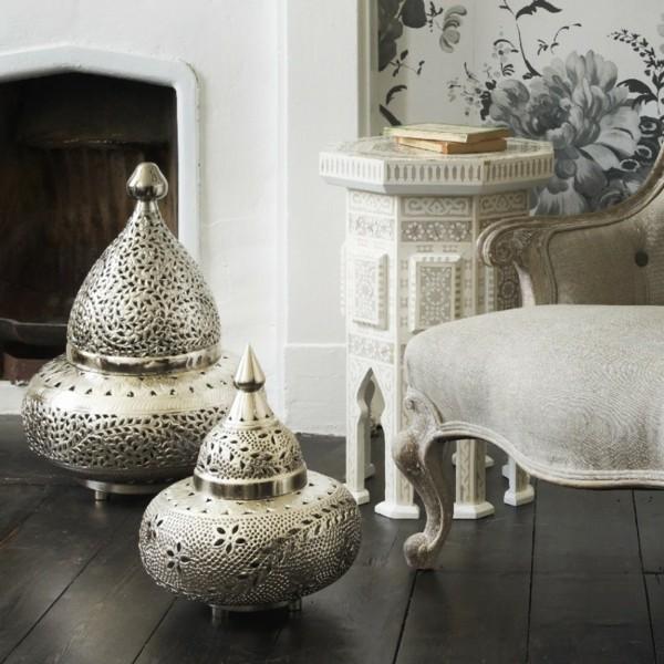 marokkanische lampe marokkanische stehlampe stilvoll dielenboden