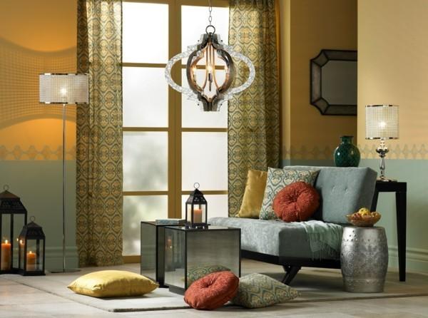 marokkanische lampe moderne hängelampe gemütliches wohnzimmer schön beleuchtet