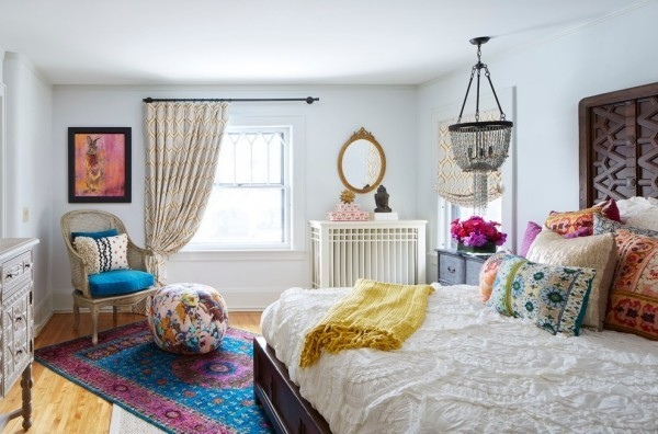 marokkanische lampe schlafbereich beleuchten farbige akzente