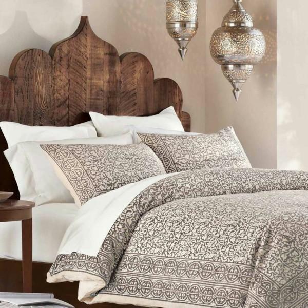 marokkanische lampe schlafzimmer beleuchtung ideen stilvolle hängelampen