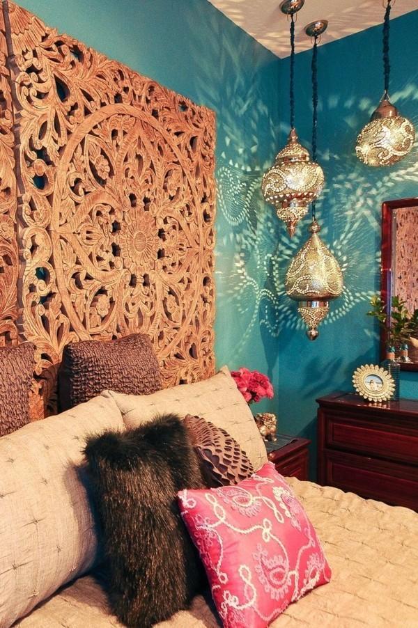 marokkanische lampe schlafzimmer boho stil elemente