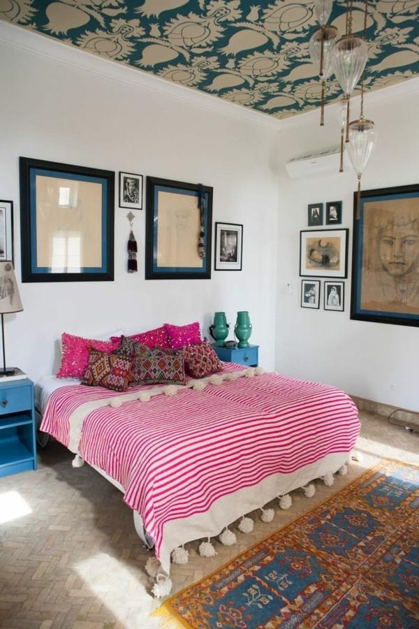 marokkanische lampe schlafzimmer einrichten ideen