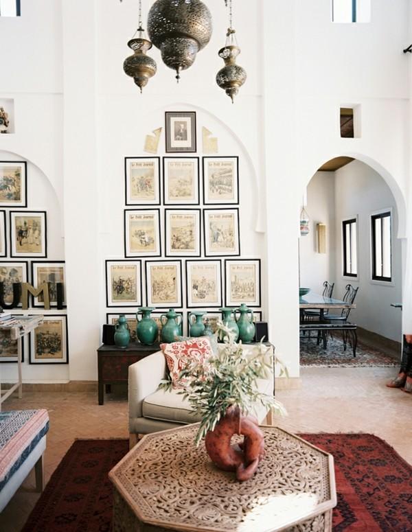 marokkanische lampe wohnzimmer beleuchten schöne deko