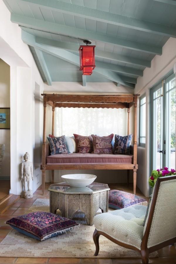 marokkanische lampe wohnzimmer ideen rotes design