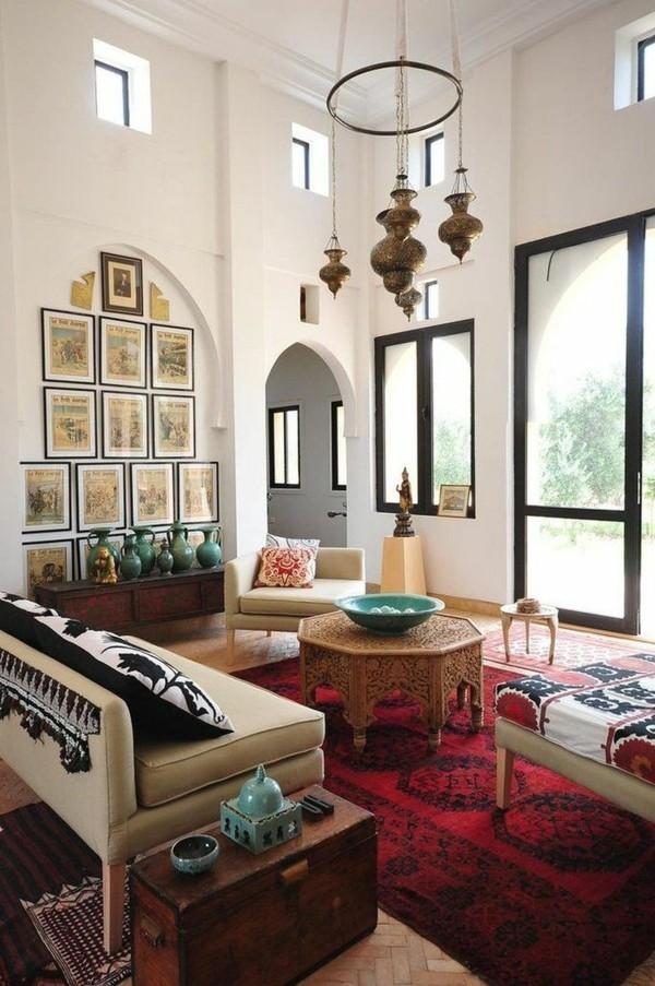 marokkanische lampe wunderschöner leuchter wohnzimmer beleuchtung ideen