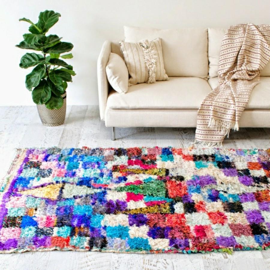 marokkanische teppiche Boucherouite stil farbig frisch