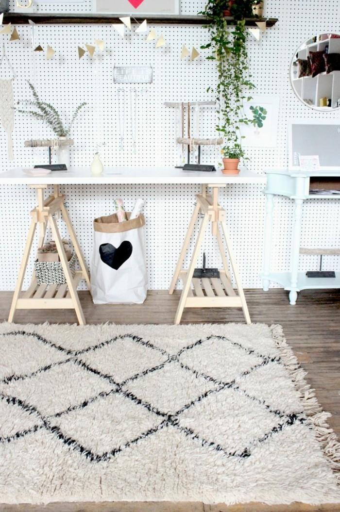 marokkanische teppiche beni ourain wohnbereich gestalten