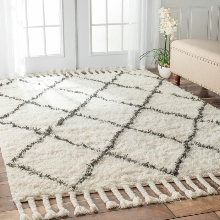 marokkanische teppiche edles design beni ourain stil