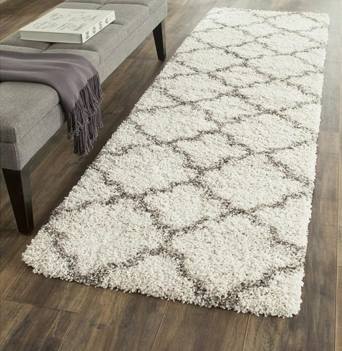 marokkanische teppiche elegenter teppichläufer wohnbereich