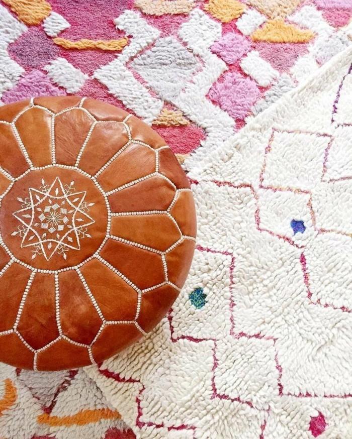 marokkanische teppiche farbige designs schöne wohnaccessoires