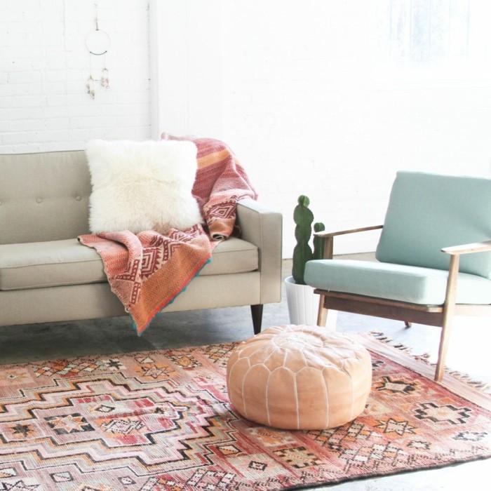 marokkanische teppiche farbiges design retro möbelstücke