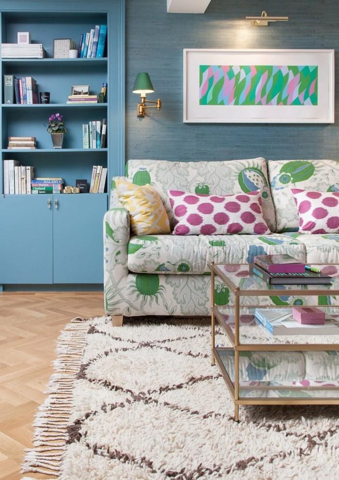 marokkanische teppiche helles design farbige wohnzimmermöbel