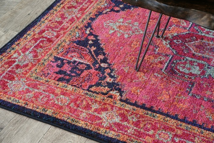 marokkanische teppiche rosa muster frische elemente