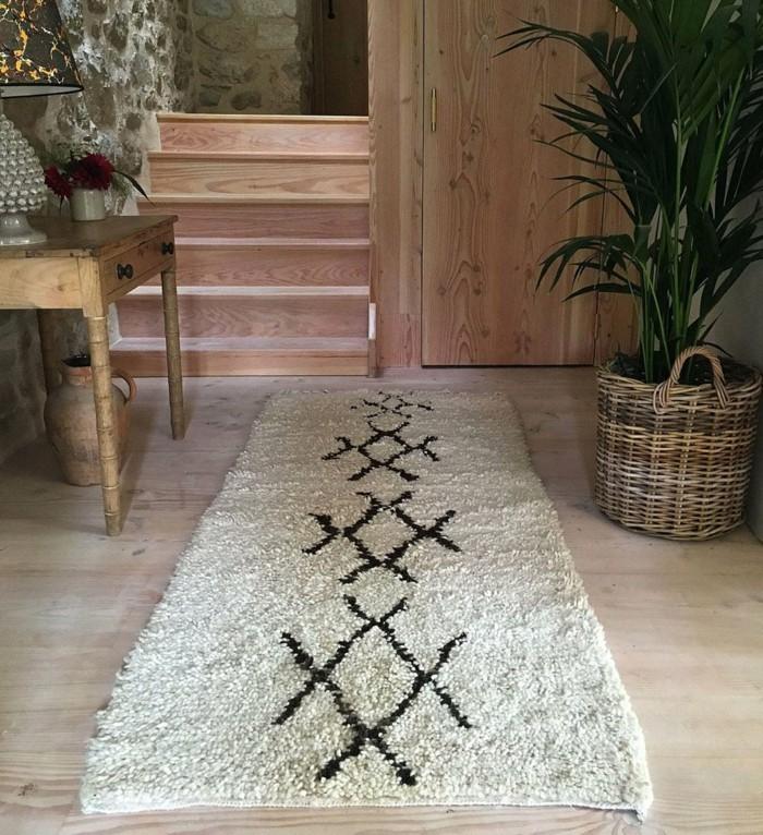 marokkanische teppiche stilvoller vintage teppich flur