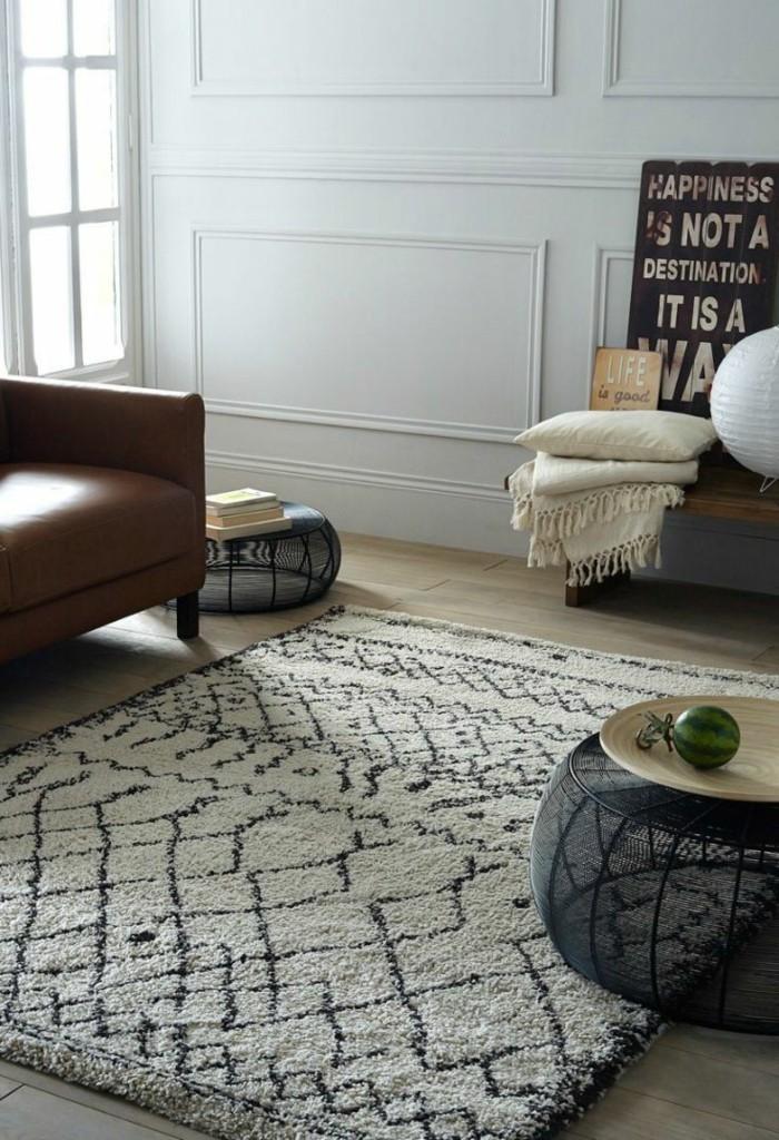 marokkanische teppiche vintage teppich moderner beistelltisch