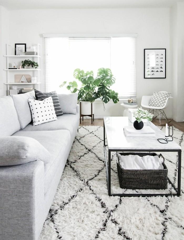 marokkanische teppiche weißes wohnzimmer helles wohnzimmersofa