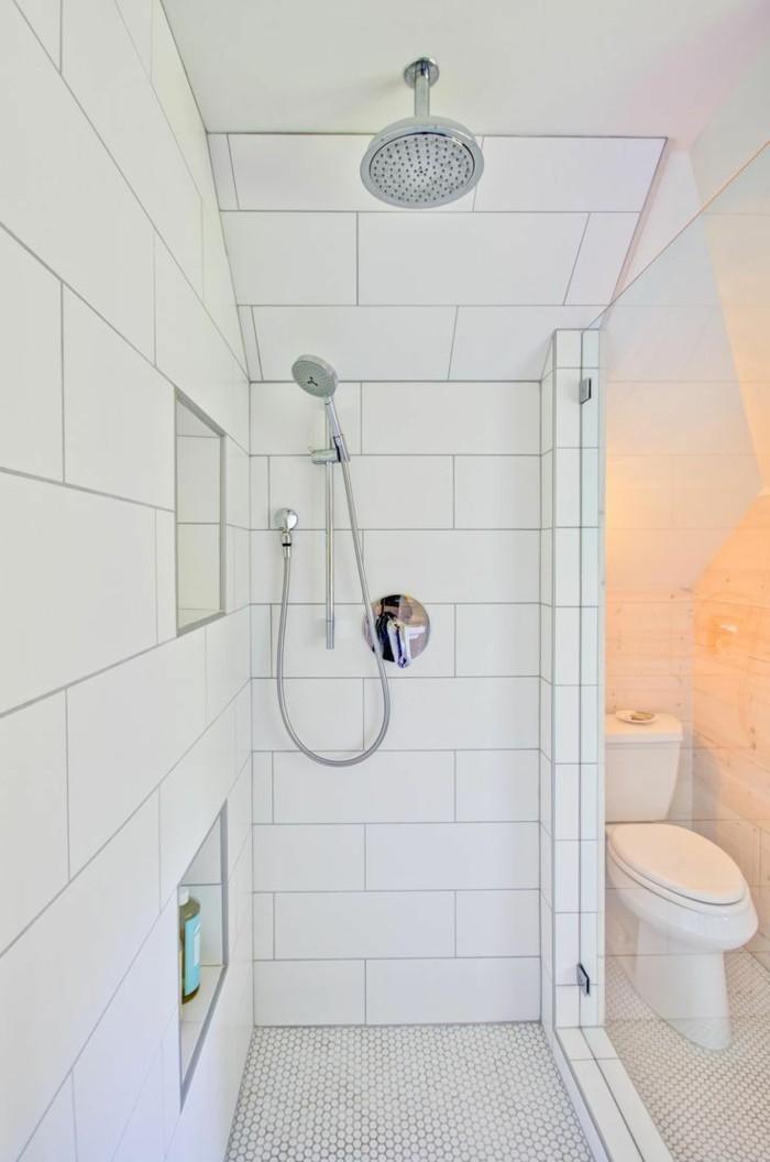 metrofliesen badezimmer weiße wandfliesen kleines bad ideen