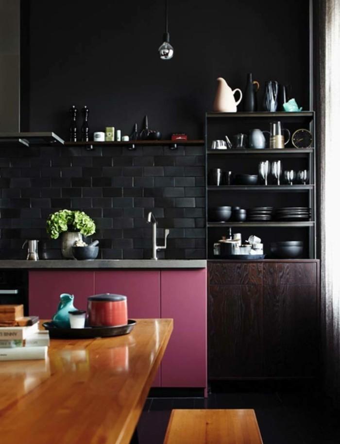 metrofliesen dramatischer look moderne küche