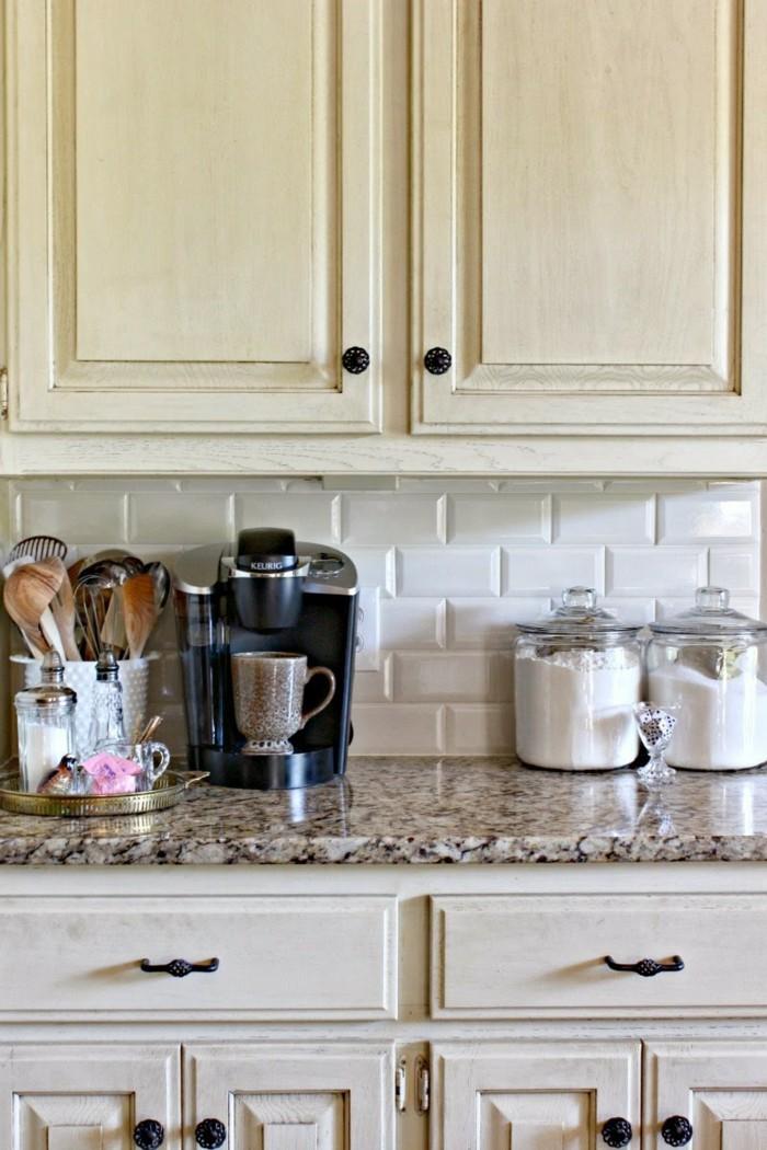 metrofliesen küche küchenrückwand gestalten