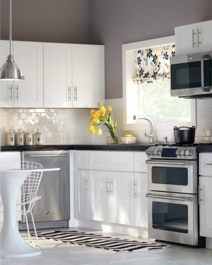 metrofliesen in k che und bad sch ne ideen f r wand und bodengestaltung. Black Bedroom Furniture Sets. Home Design Ideas