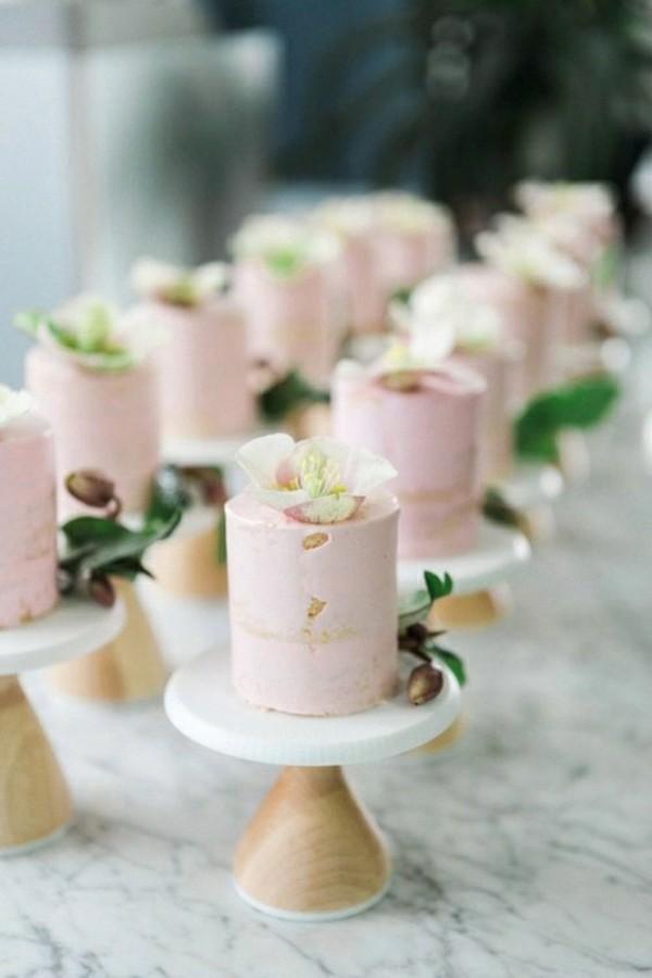 mini miniature pale pink cake