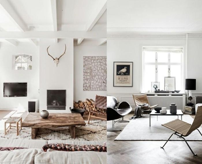 Wohnzimmer minimalistisch einrichten, doch mit eigenem Charakter