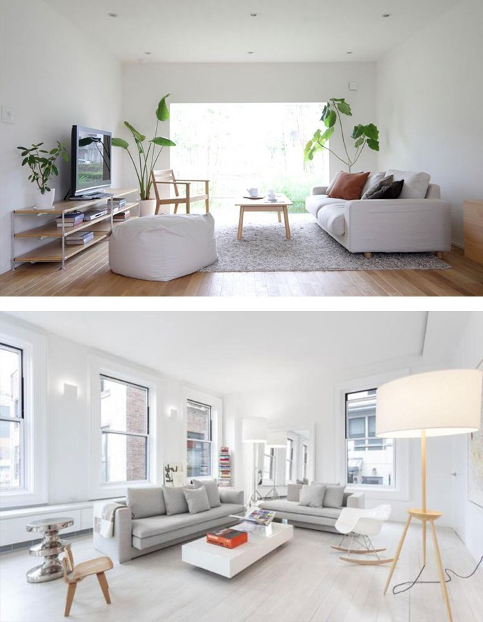 Minimalistisch Einrichten Helle Möbel Stauraum Ideen Wohnzimmer  Minimalistisch Einrichten ...