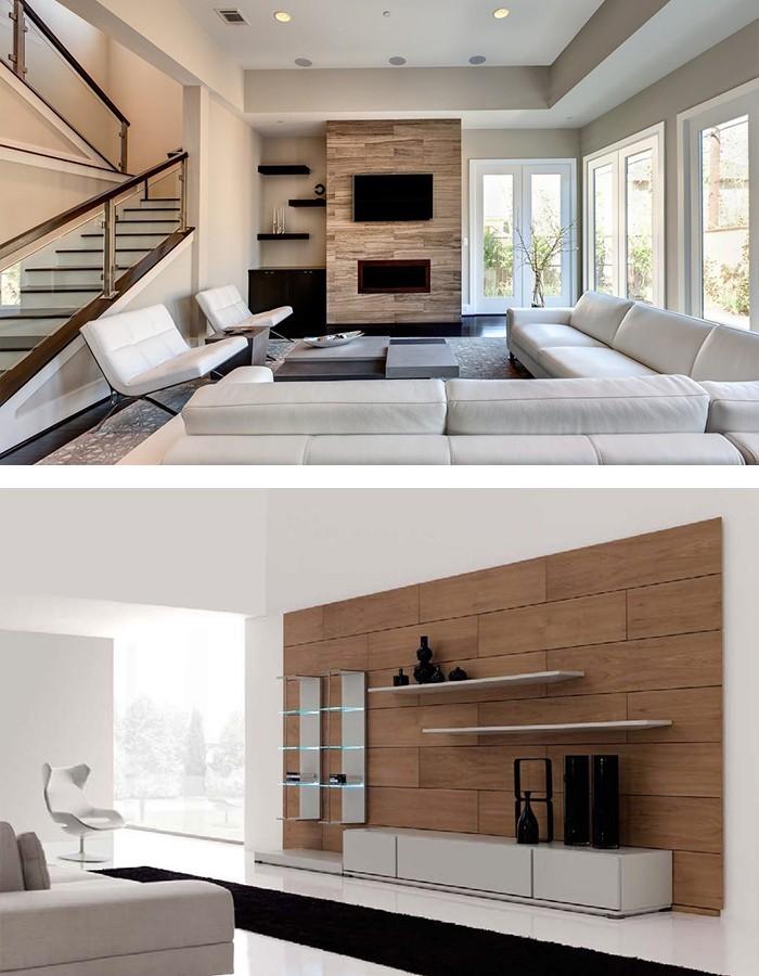 Minimalistisch Einrichten Schöne Akzentwand Wohnwand