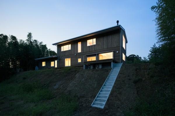 moderne architektur aussicht bei nacht