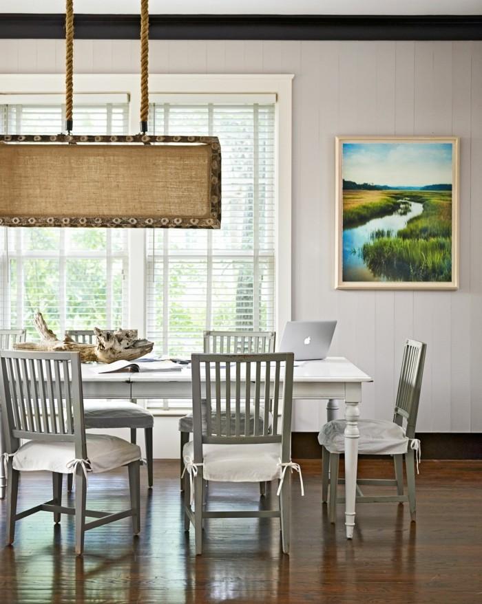 moderne stühle esszimmer auflage hellgraue stühle