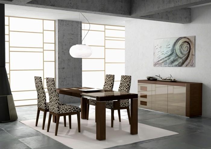 moderne stühle esszimmer elegantes design schönes muster