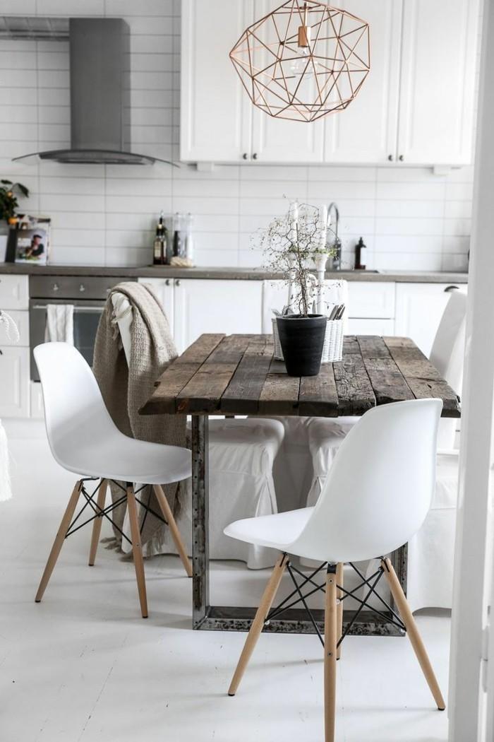 moderne stühle esszimmer essbereich skandinavisches design weiße stühle