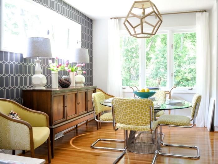moderne stühle esszimmer kleiner essbereich bequem sitzen