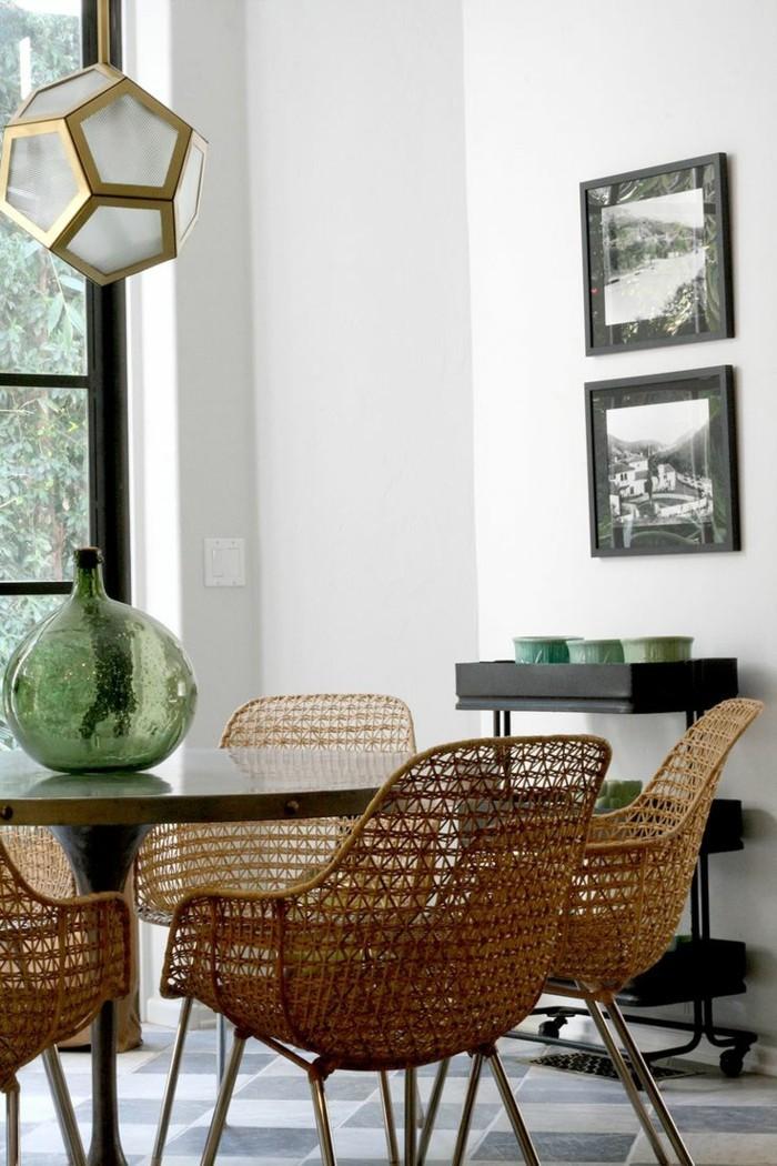 moderne stühle esszimmer korbmöbel esszimmereinrichtung