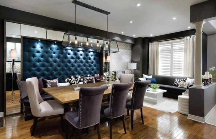 moderne stühle esszimmer schöne tischdeko dekokissen sofa
