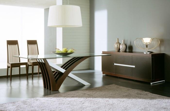 moderne stühle esszimmer schlichtes design ausgefallener tisch