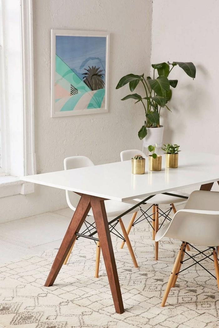 moderne stühle esszimmer skandinavischer stil helle farben