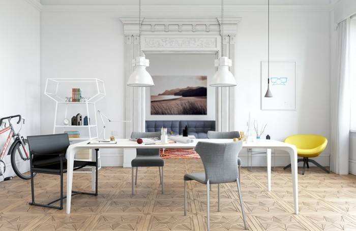 moderne stühle esszimmer skandinavisches design wunderschöner bodenbelag