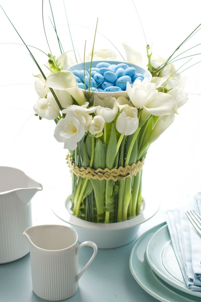 osterdeko basteln blumensorten hyazynth tulpen